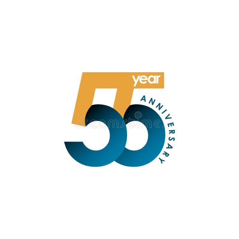 55 Year Anniversary Vector Template Design Illustration. Year Anniversary Celebration Vector Template Design Illustration vector illustration