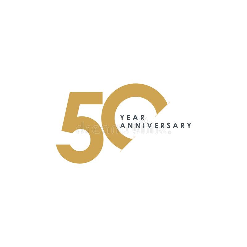 50 Year Anniversary Vector Design Illustration royalty free illustration