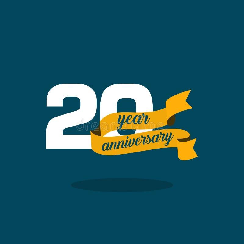 20 Year Anniversary Vector Template Design Illustration. Year Anniversary Vector Template Design Illustration vector illustration