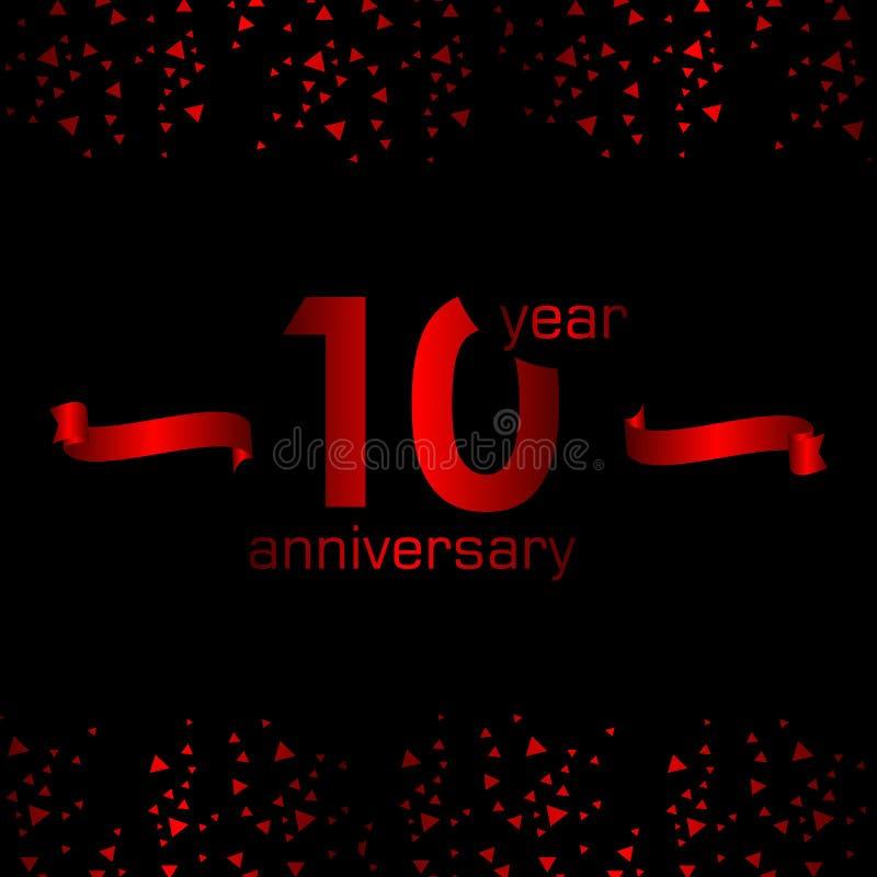 10 Year Anniversary Vector Template Design Illustration. Year Anniversary Vector Template Design Illustration stock illustration