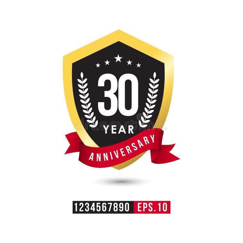 30 Year Anniversary Vector Template Design Illustration. Year Anniversary Vector Template Design Illustration stock illustration