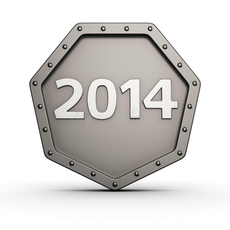 Year 2014 armored icon royalty free illustration