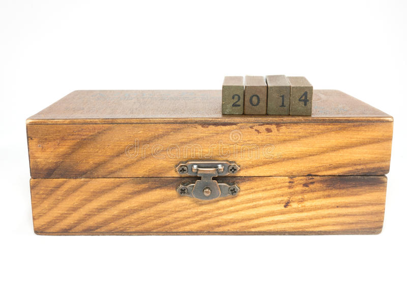 Download Year 2014 on box stock image. Image of number, business - 39511841