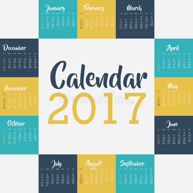 2017 year calendar design stock vector illustration of for Time design planner