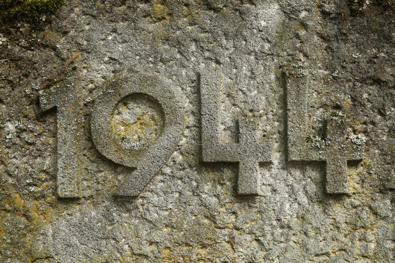 Year 1944 carved in stone. The years of World War II. royalty free stock image