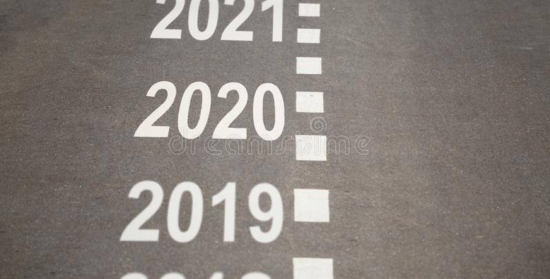 2020 year is coming concept stock illustration