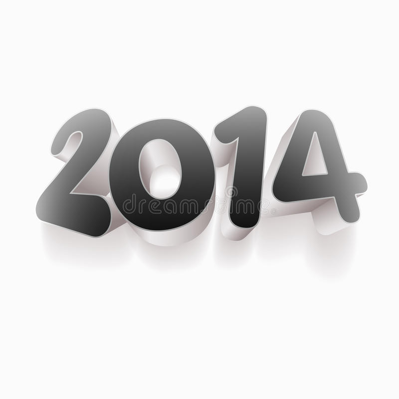 Download Year 2014 3D stock vector. Image of beginnings, concept - 33958625