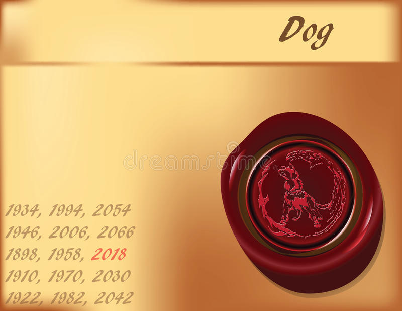 Download Year Of The Dog - Background Stock Vector - Image: 25724907