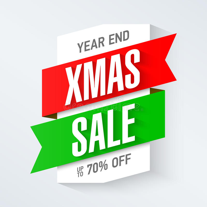 Year end Christmas sale stock illustration