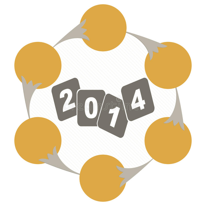 Year 2014 evolution chart