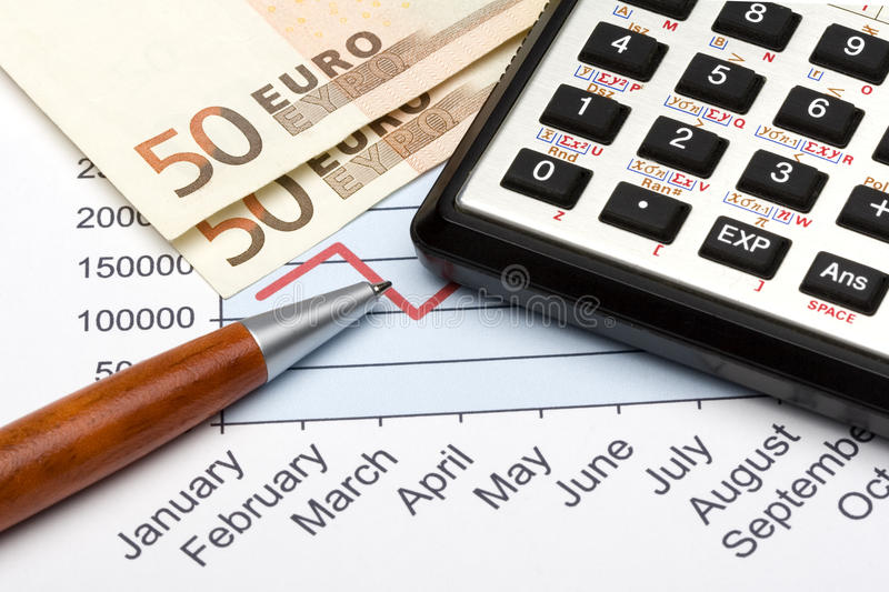 Year Finance royalty free stock photography
