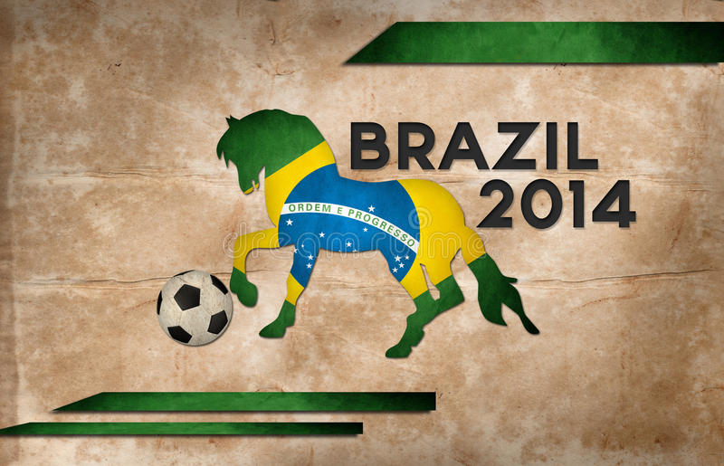 Year of football and horse brazil royalty free stock image