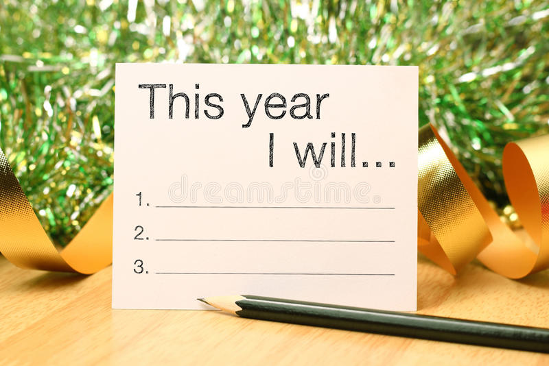 This year goals royalty free stock photography