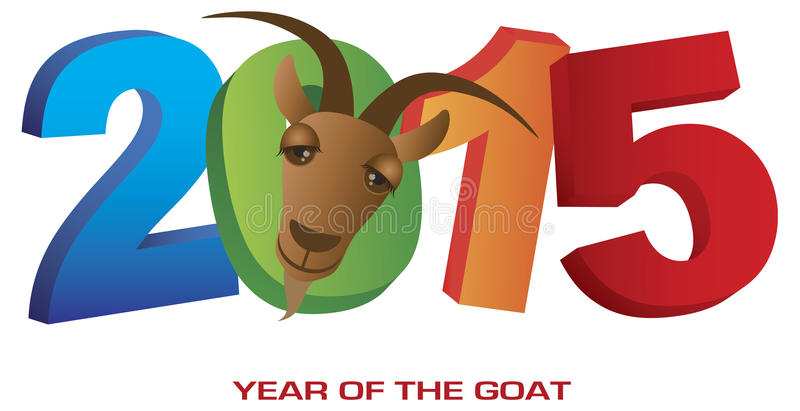 Download 2015 Year Of The Goat Numerals Stock Vector - Image: 42119256