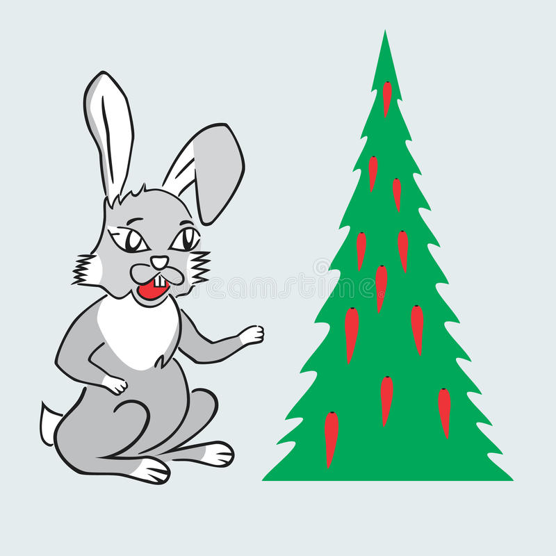 Download Year hare stock vector. Illustration of xmas, illustration - 12556673