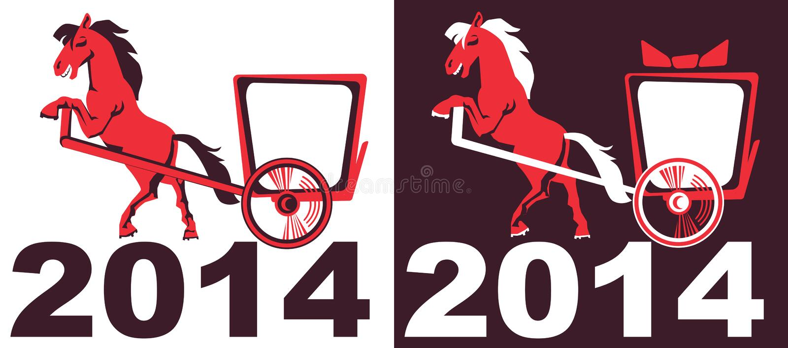 2014 - Year of the Horse on the eastern calendar royalty free stock photo