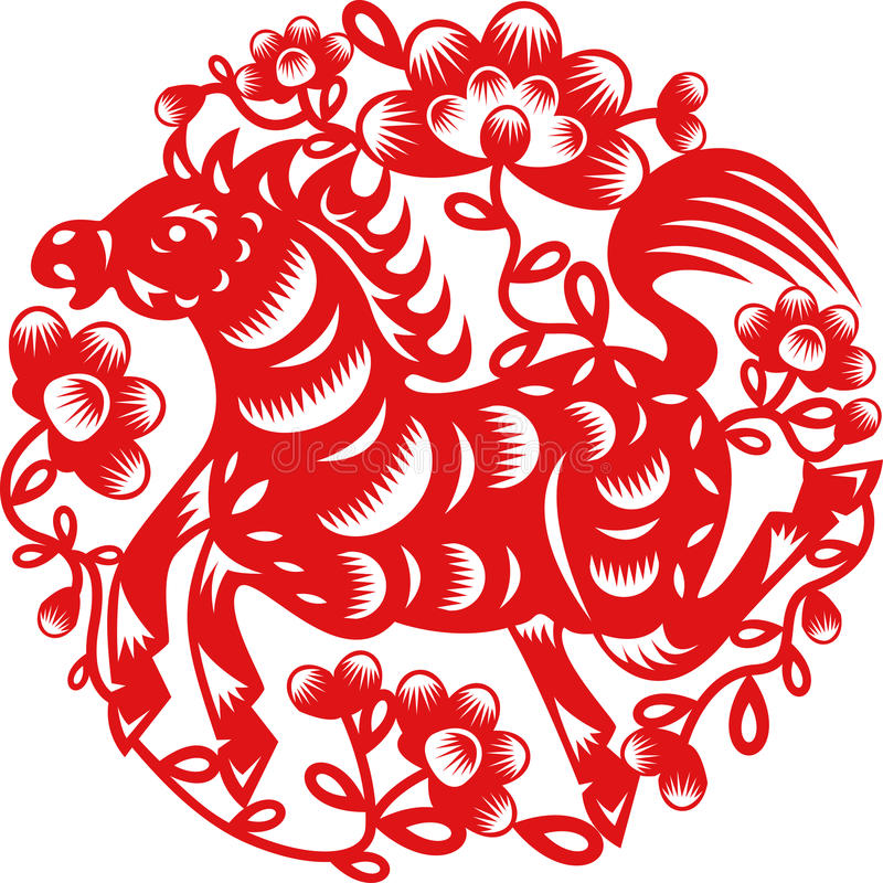Download Year of Horse stock vector. Image of pattern, vector - 32966181