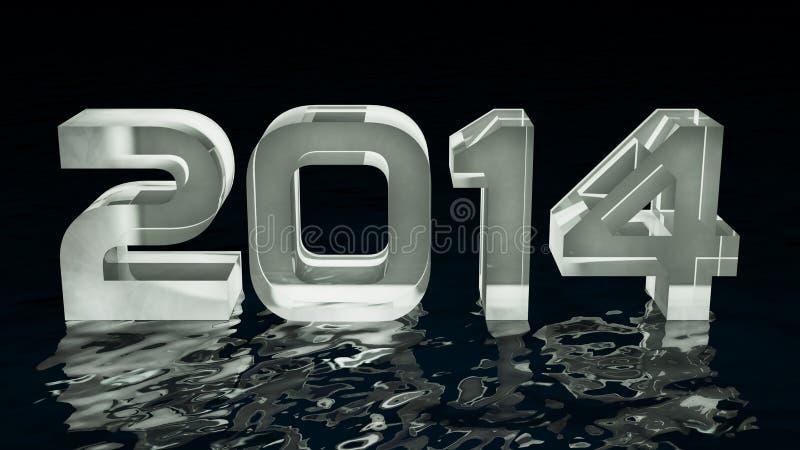 Year 2014 vector illustration