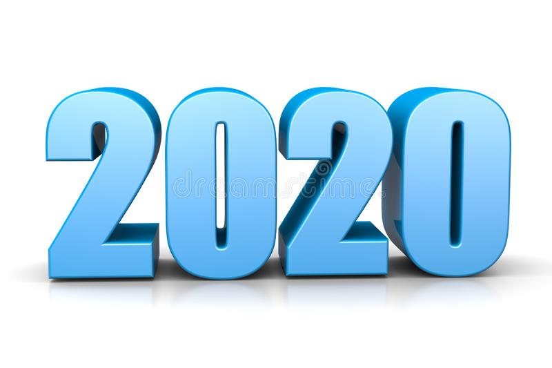 2020 Year Number Text royalty free illustration