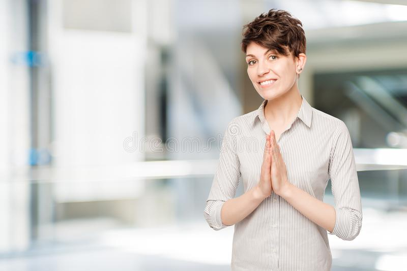 25-year-old brunette in a shirt posing royalty free stock photos