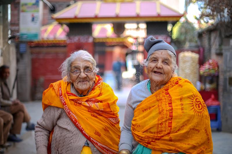 100 year old Happy Asian Elderly Women royalty free stock photos