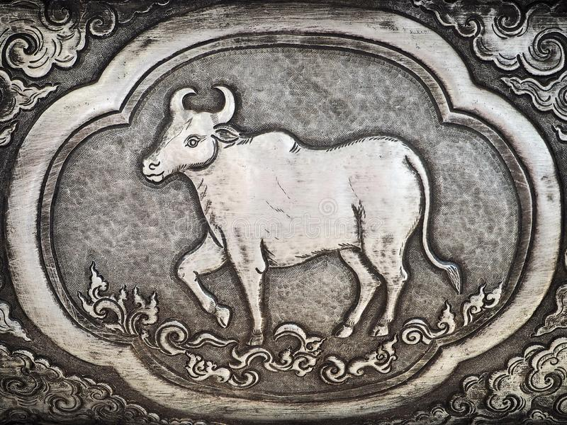 Antique Carved Cow Sign Stock Photo Image Of Decorative