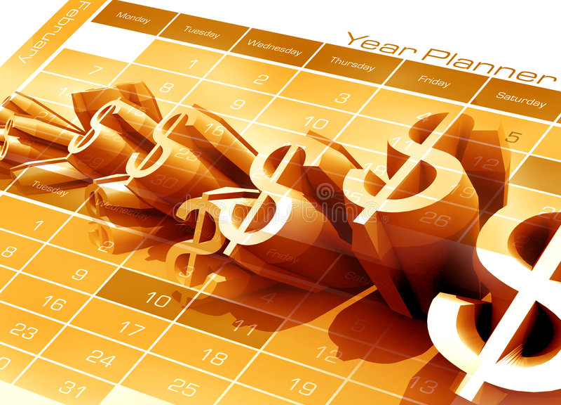 Year planner stock illustration