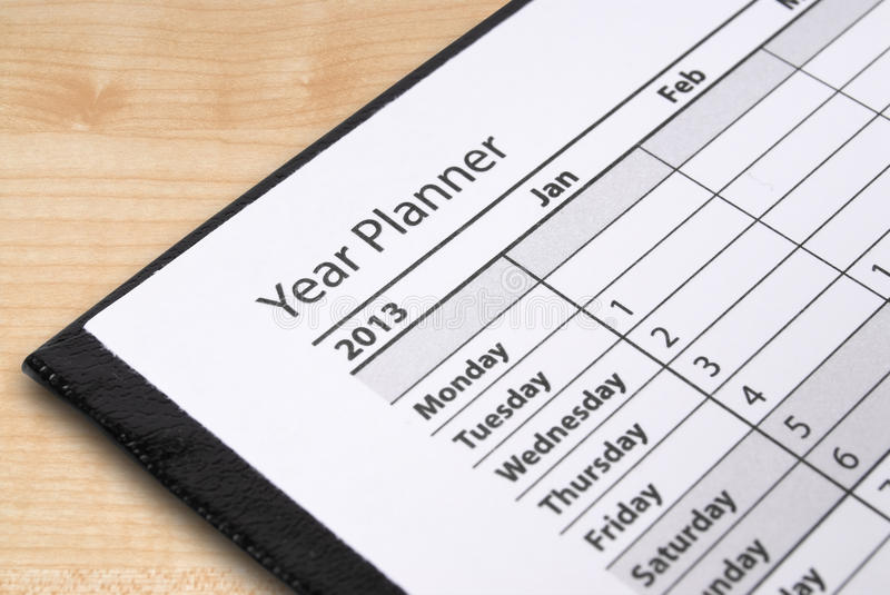 Download Year planner page stock image. Image of schedule, planning - 27824779