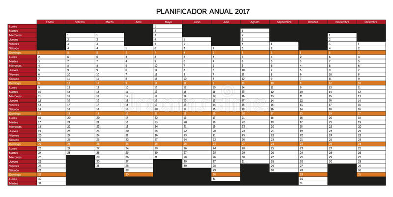 Rest Of Year Calendar : Year planning calendar for in spanish planificador