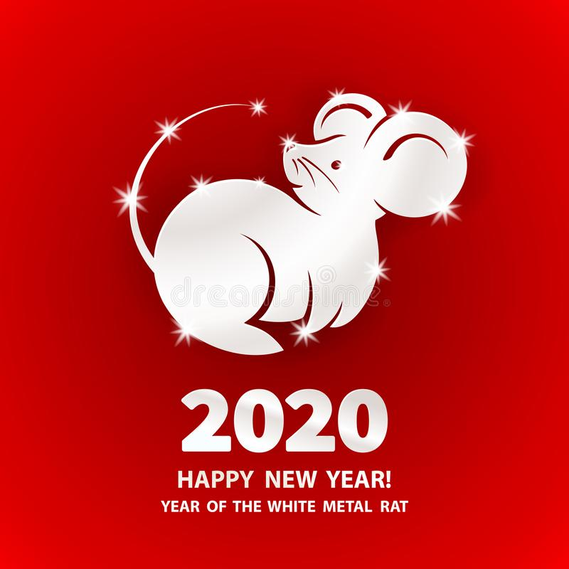 2020 Year of the RAT stock photo