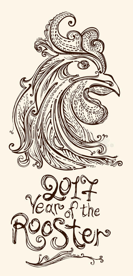 Year of the rooster 2017. royalty free illustration