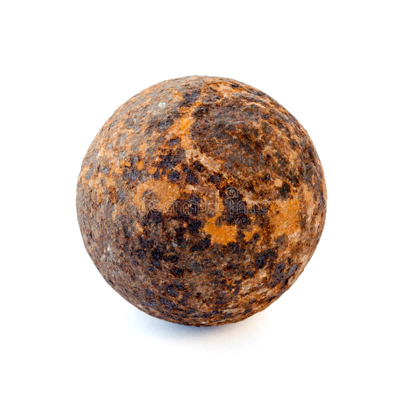 1812 year rust cannonball stock photography