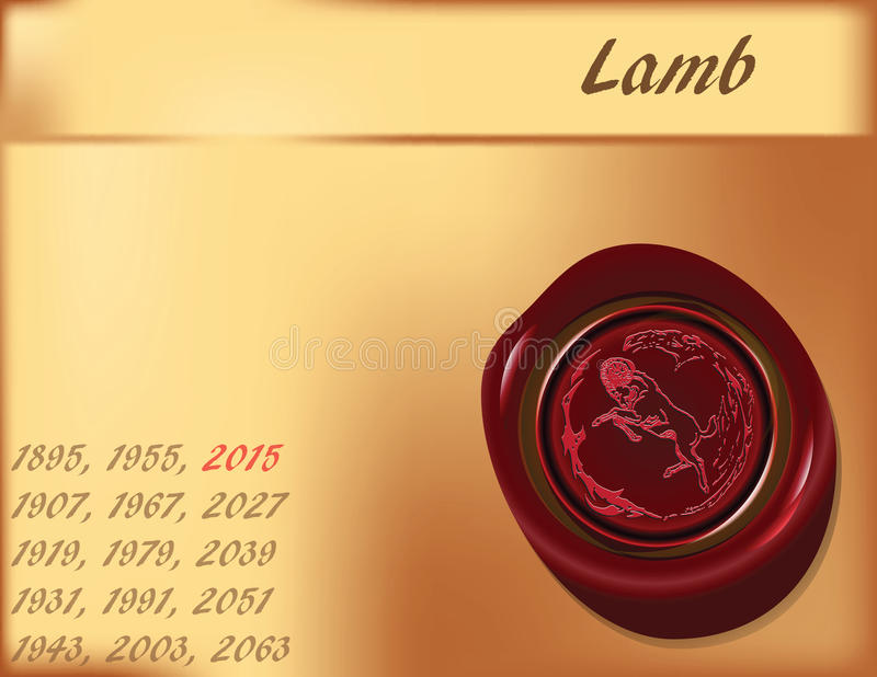 Download Year of Sheep - background stock vector. Image of design - 24889342