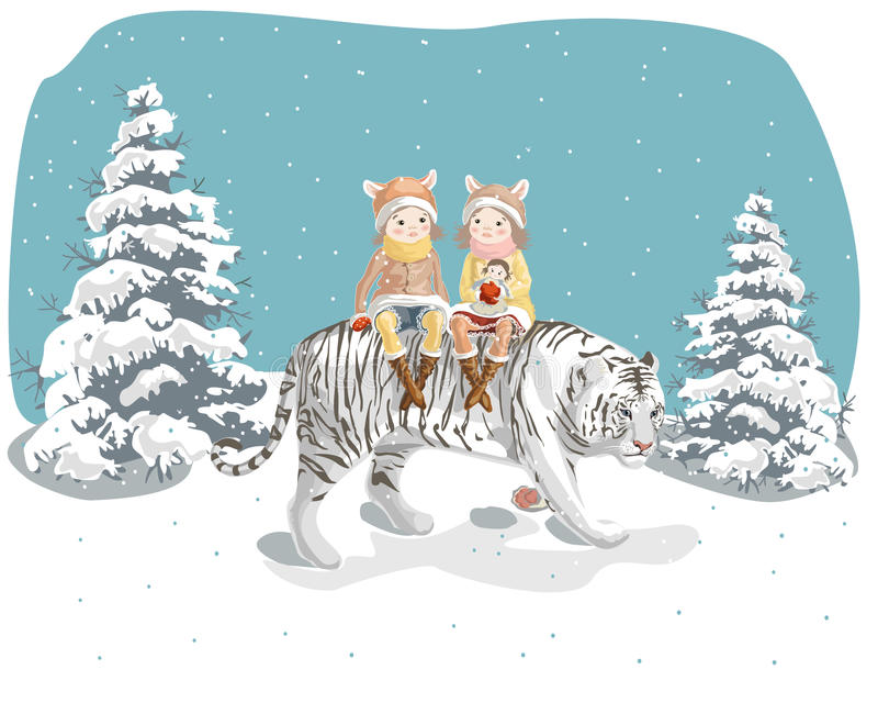 Year of the tiger royalty free stock photography