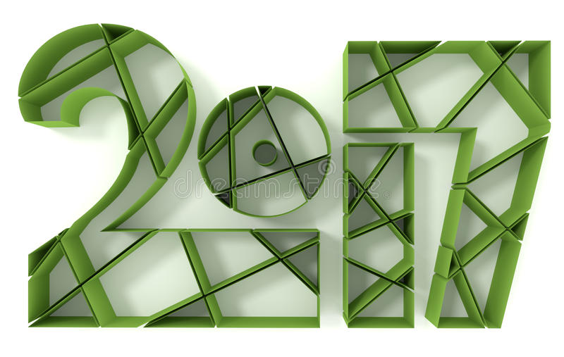 Download 2017 Year Typeface Design Stock Illustration - Image: 83711964