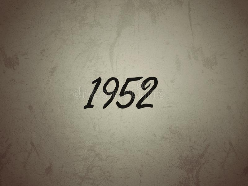 The Year 1952 on a Vintage Background Stock Image - Image of ...