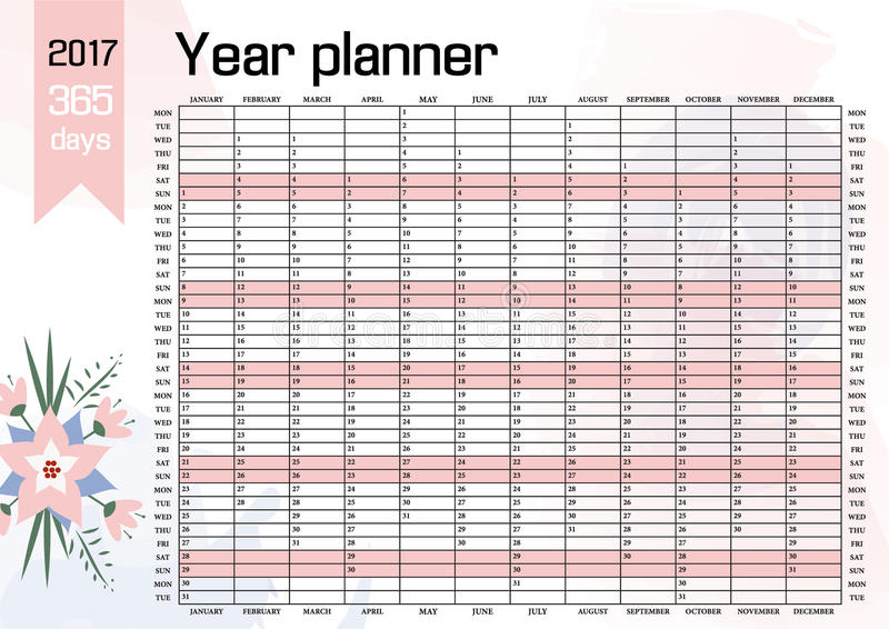 Planner Style Calendar Template : Year wall planner plan out your whole with this