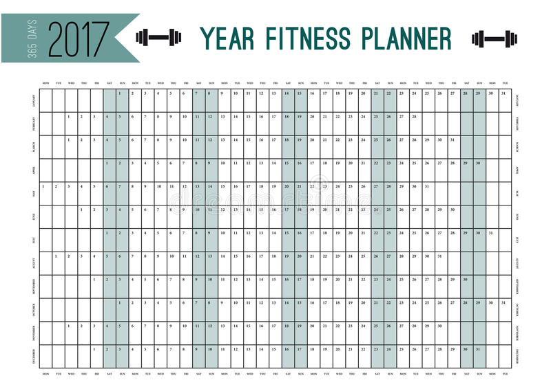 Year Wall Planner Template Plan Out Your Whole Fitness With This