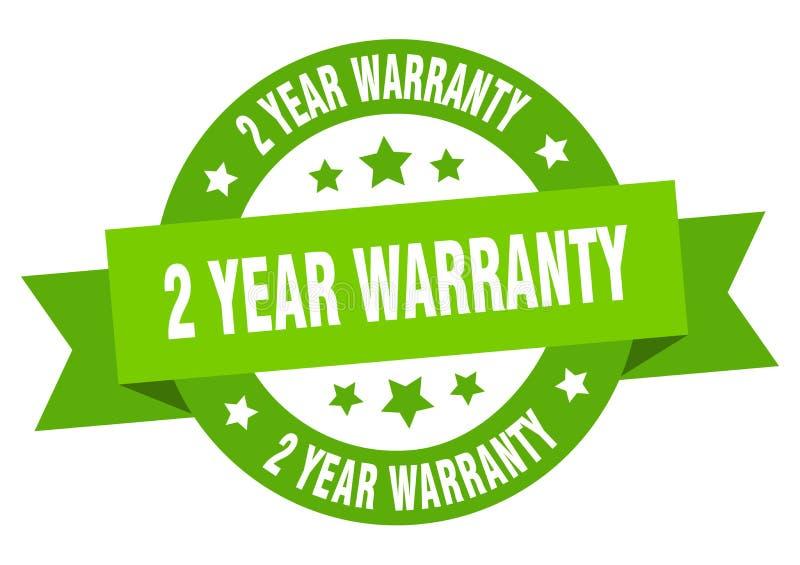 2 year warranty ribbon. 2 year warranty round green sign. 2 year warranty vector illustration