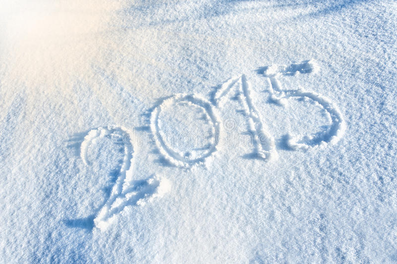 Download Year 2014 Written In Snow Royalty Free Stock Photo - Image: 37008505