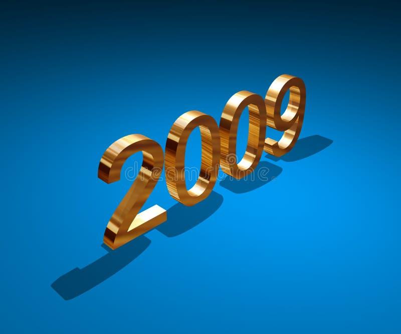 Year2009 ilustração royalty free
