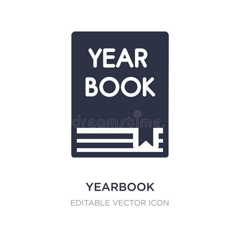 yearbook icon on white background. Simple element illustration from General concept stock illustration