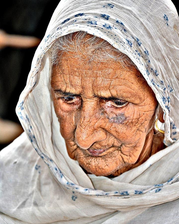 105years老妇人 免版税库存照片