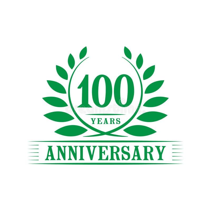 100 years anniversary celebration logo. 100th anniversary luxury design template. Vector and illustration. stock illustration