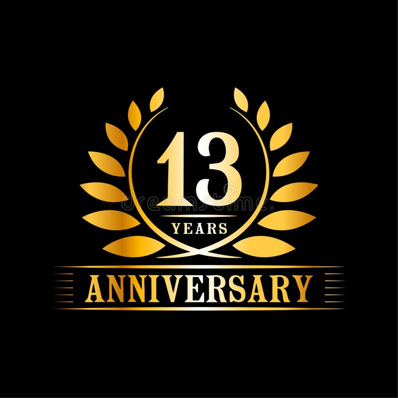 13 Years Anniversary Celebration Logo 13th Anniversary Luxury Design Template Vector And Illustration Stock Vector Illustration Of Abstract Celebrate 154884487