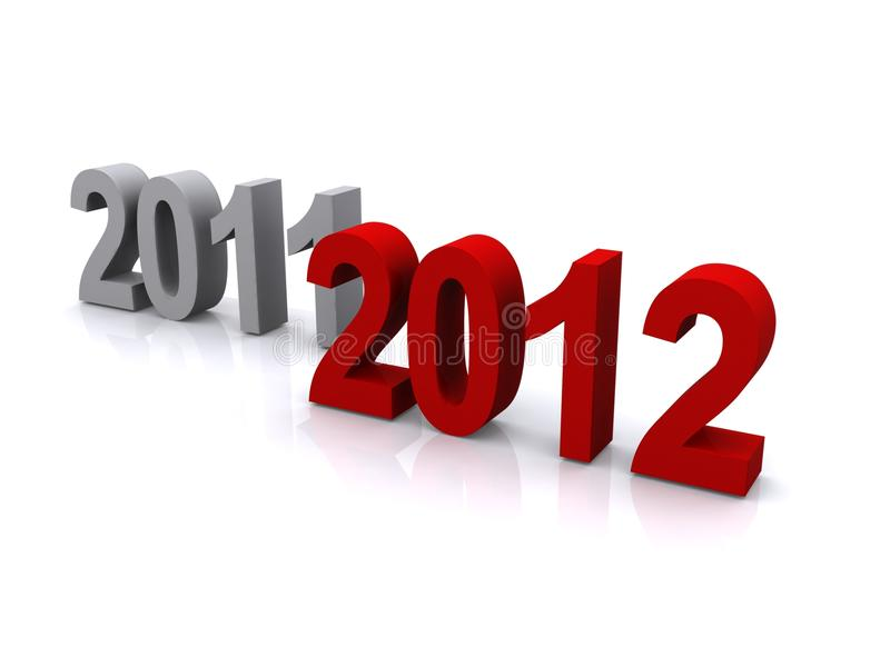 Download Years 2011 and 2012 stock image. Image of time, transition - 21012857