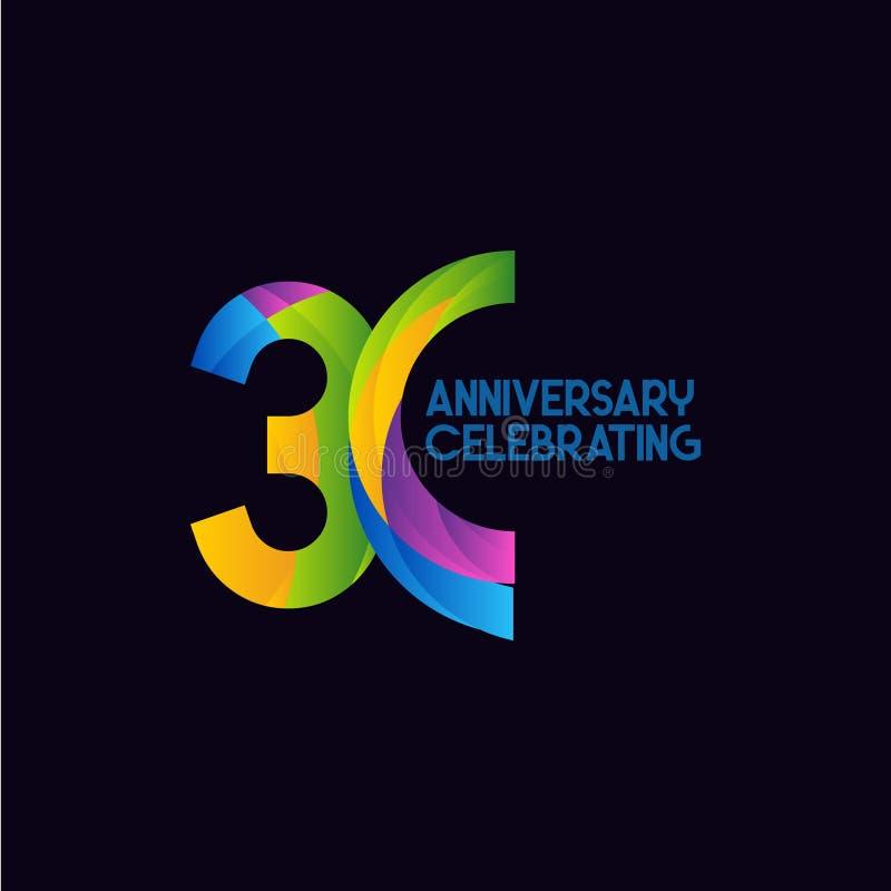 30 Year Anniversary Symbol: 30 Anniversary Stock Illustrations