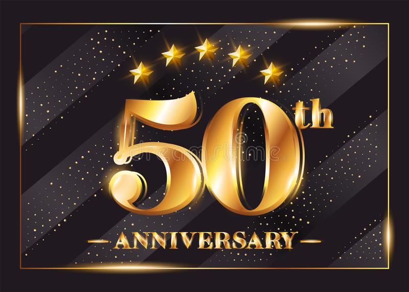 50 Years Anniversary Celebration Vector Logotype. royalty free illustration