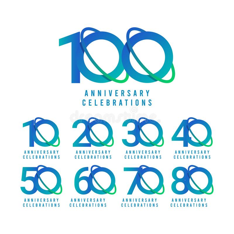 100 Years Anniversary Celebrations Vector Template Design Illustration. Isolated, web, gold, text, element, 100th, stamp, competition, remembered, season stock illustration
