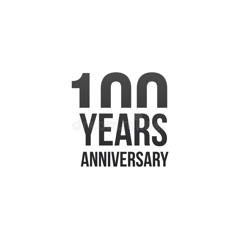 100 years anniversary design with simple design. Vector illustration isolated on white background. 100 years anniversary design with simple design. Vector royalty free illustration